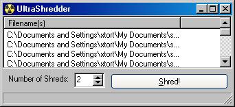 ultra shredder safely delete files permanent