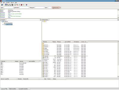 filezilla ftp client software