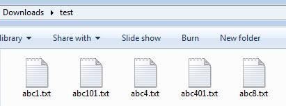 new file sort