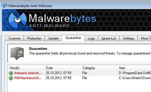 found malware