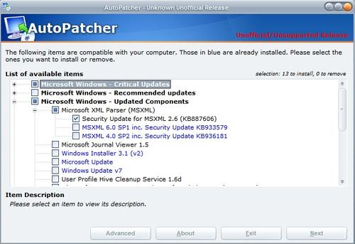 AutoPatcher Updater full screenshot