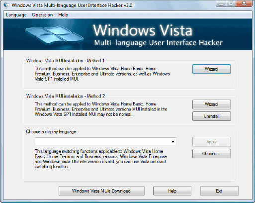 how to change program description windows vista