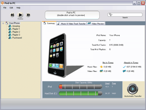 iphone transfer pc