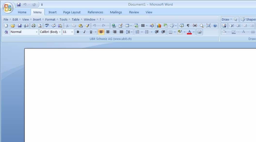microsoft office classic menu add-on