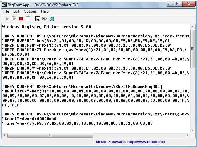 Windows Registry Monitoring With RegFromApp - gHacks Tech News