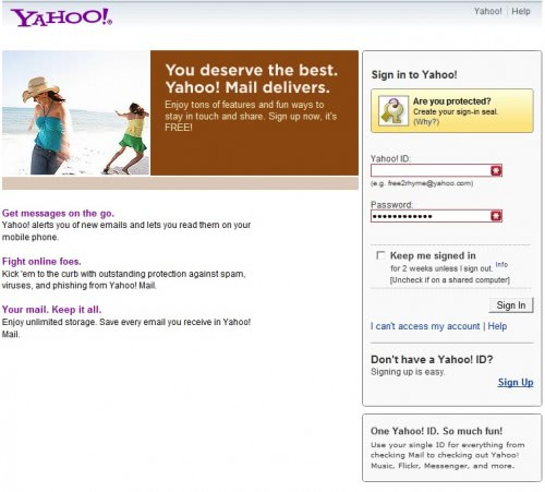 The official yahoo mail website is https login yahoo com config