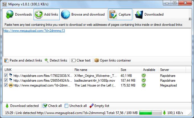 file hosting download manager mipony