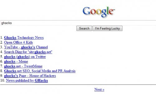 news google search engine lets