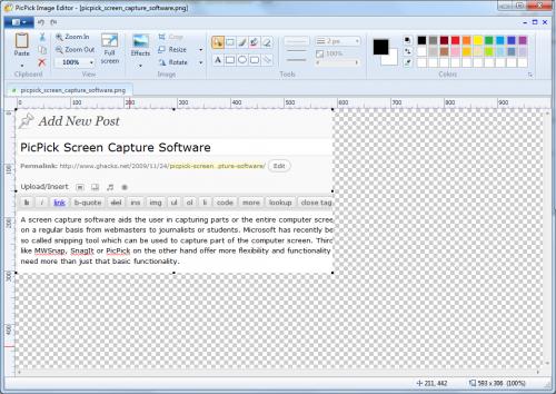 picpick screen capture software