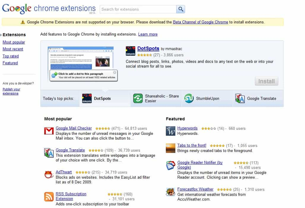Official Google Chrome Extensions Website Opens Its Doors ...