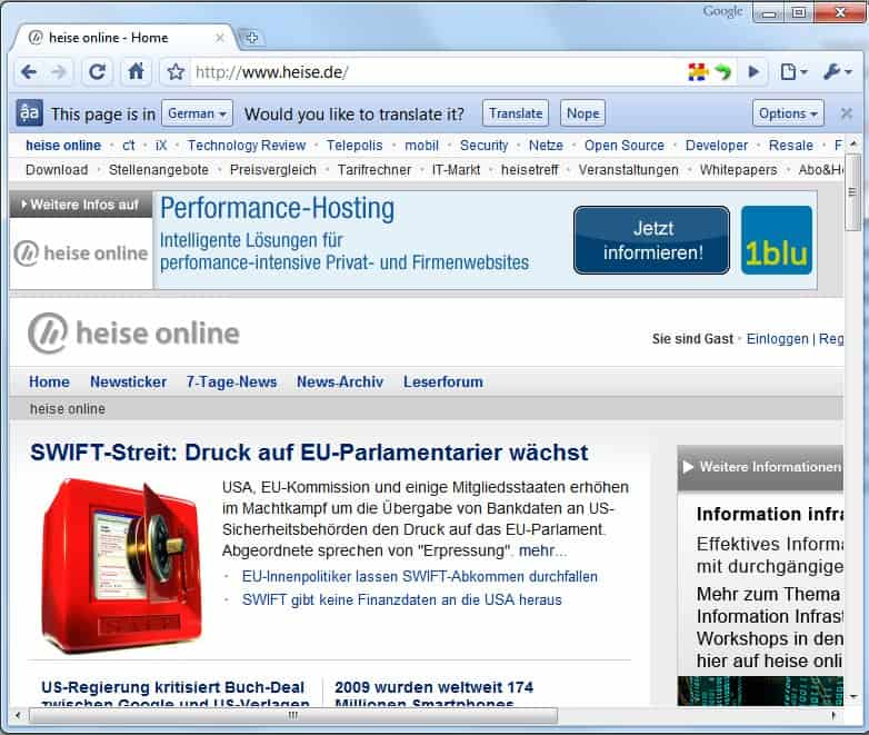 Google Translate Integriert Sich In Google Chrome 5 Xcomputer