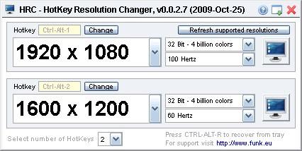 computer hotkey resolution