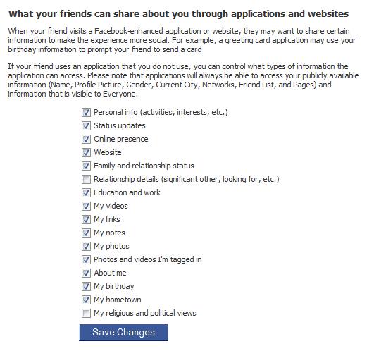 facebook friends share