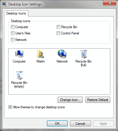 restore recycle bin icon