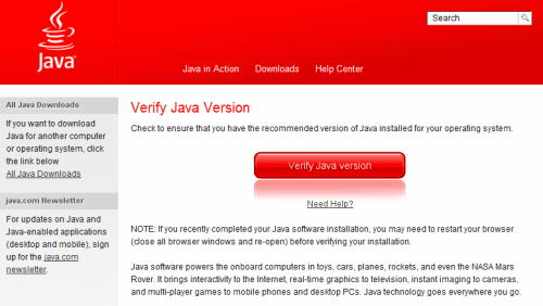 verify java