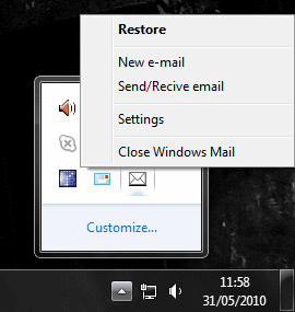 Windows Live Mail Minimizer