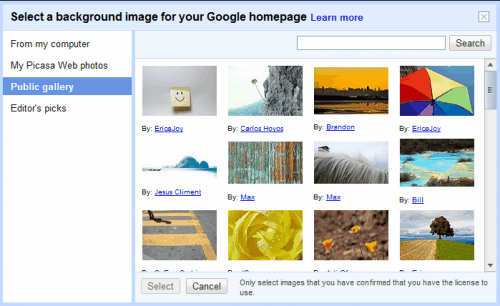 background image google homepage