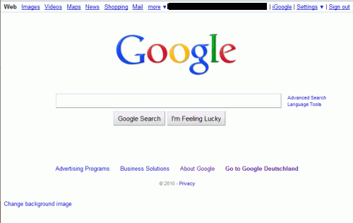 google search background image