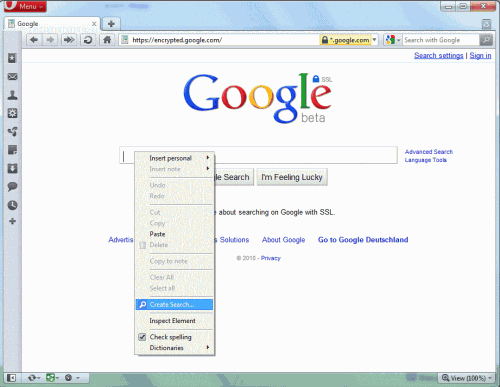 opera add search engine
