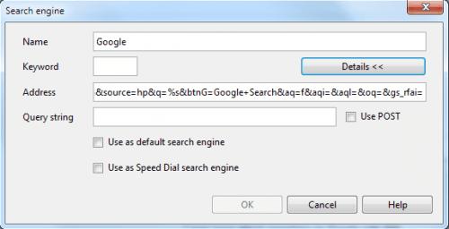 opera search engine