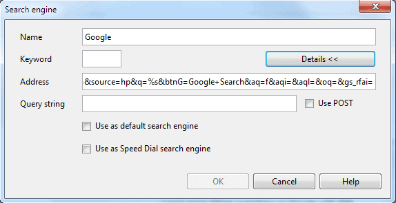 opera search engine