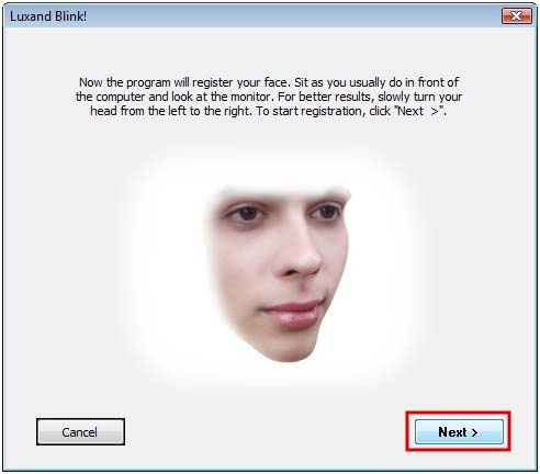 face recognition software2 blink
