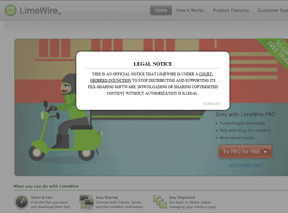 LimeWire Forced To Shutdown, FrostWire Alternative - gHacks Tech News