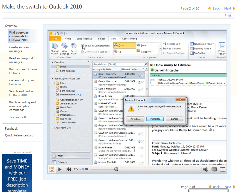 Free Microsoft Outlook 2010 Training Courses Ghacks Tech