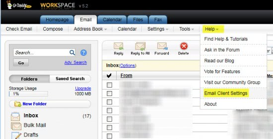 Configure Godaddy Email Accounts In Desktop Email Clients