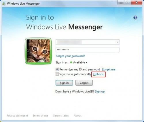 windows live log in