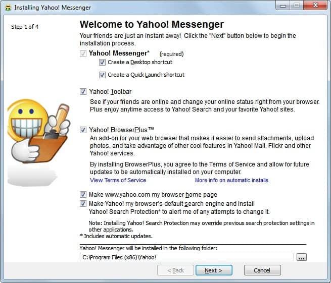 free  yahoo messenger 2012 windows vista