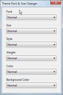theme font size changer