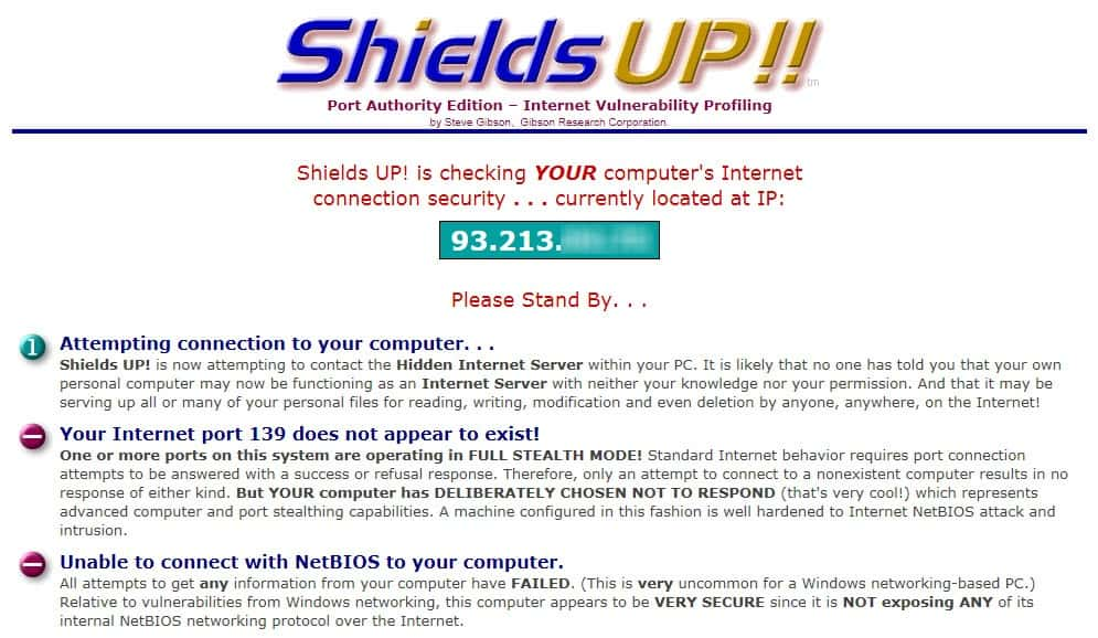 Shields Up, Test Your Firewall Online - gHacks Tech News