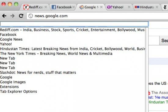 tab title search