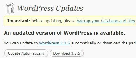 wordpress 3 0 5