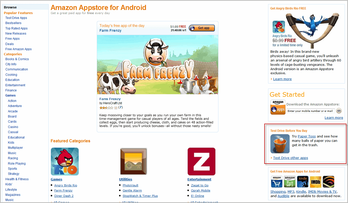 how to get amazon app store