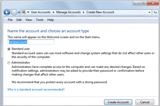 how to create administrator password in windows 7