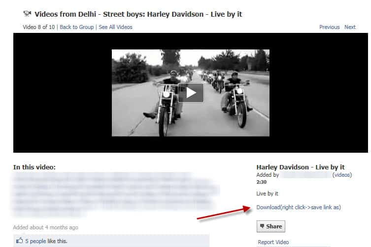how to send facebook video link