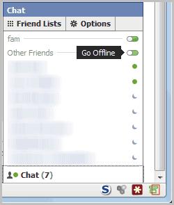 facebook chat go offline