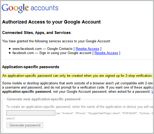 google account access