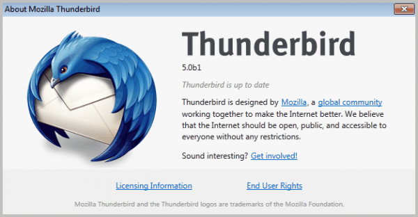 thunderbird 5 beta 1