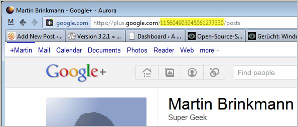 google profile id