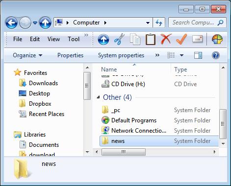 custom my computer folders
