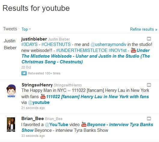 how to add twitter link to youtube video