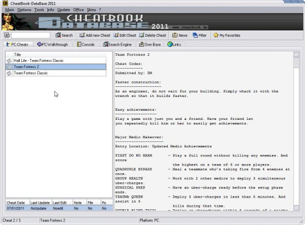 Access Game Cheats And Cheat Codes With Cheatbook Database ...