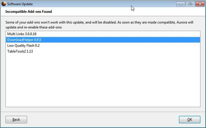 firefox incompatible add-ons