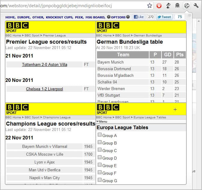 Ultimate football results for google chrome ghacks tech news - German league fixtures results table ...