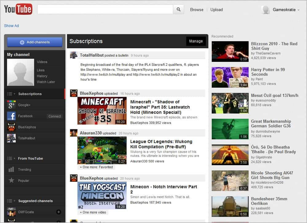 How to get the new youtube homepage right now ghacks tech news