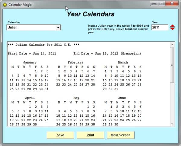 Calendar Magic, All Calendar Information You Ever Need - gHacks Tech ...