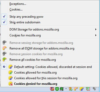 firefox cookies permission